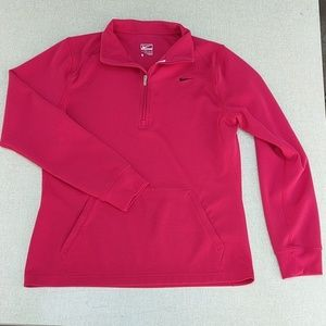 Nike Pullover Zip Jacket S Red Performance Top